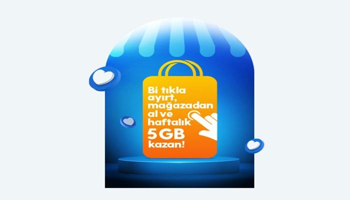 Turkcell Bir Tıkla Ayırt, Mağazadan Al 5 GB İnternet Kazan Kampanyası