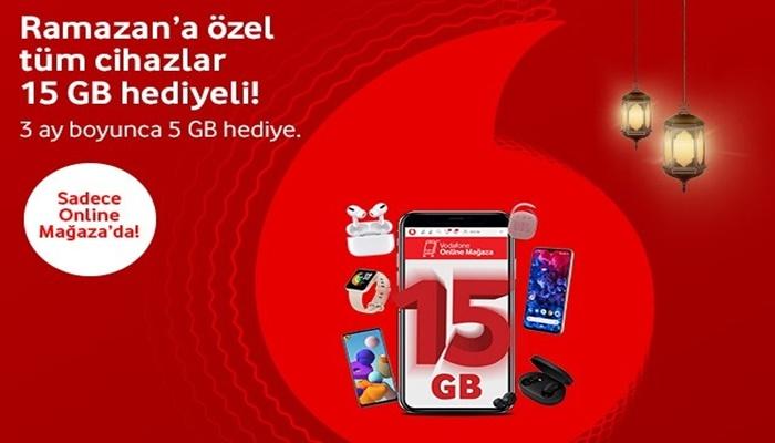 Vodafone Online Mağazada Tüm İndirimlere Ek 15 GB İnternet Hediye Kampanyası